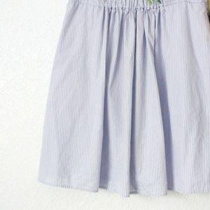 J. Crew Elastic Waist Striped Skirt
